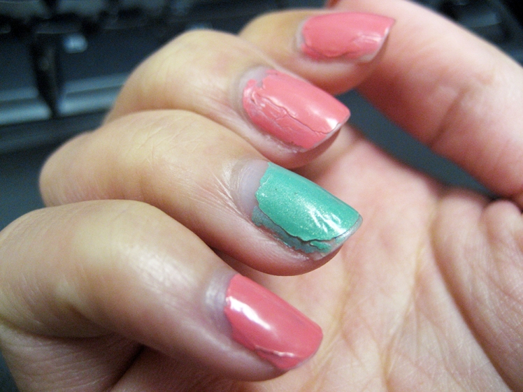 * colors used: Sinful Colors' Mint Apple and