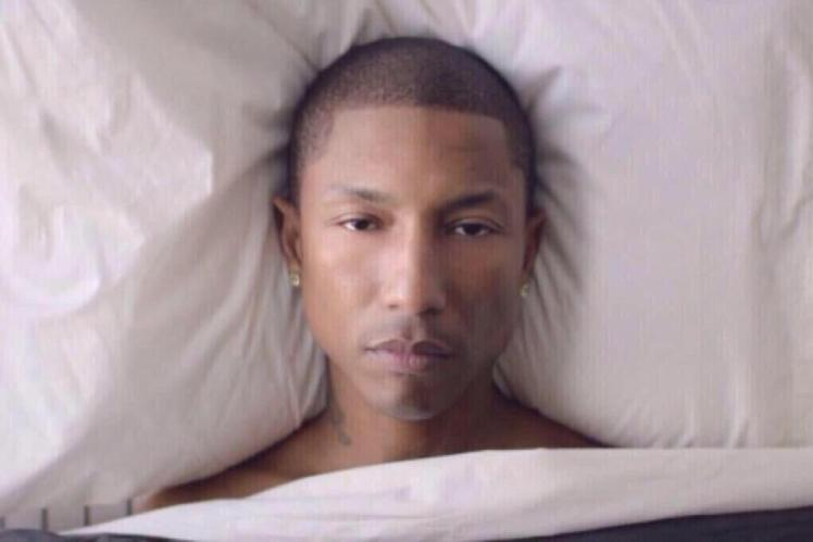 Even Pharrell isn't amused.